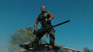 "The Rock as ""Roadblock"" in the upcoming GI Joe sequel."