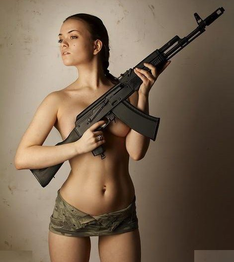 gratuitous hot girl with gun tactical fanboy