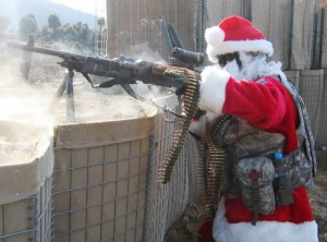 Santa Machinegunner