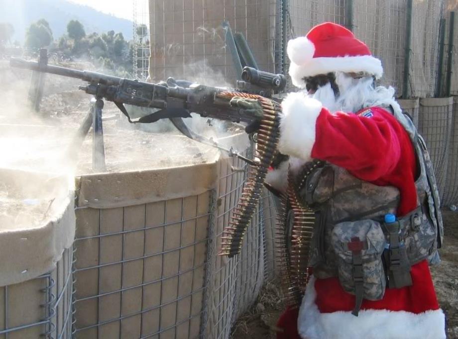 Santa Machinegunner