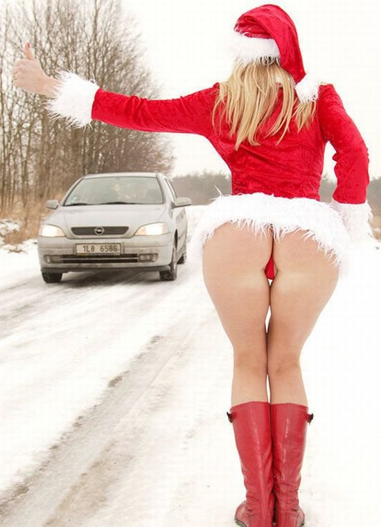 Hot Santa girl