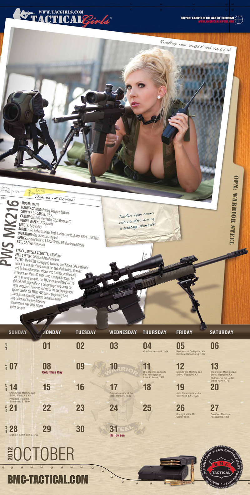 Lynn Jordan, Tactical Fanboy's Tac Girl of the Week