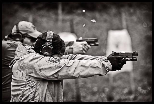 Chris Costa on the range.