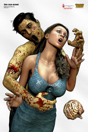 Busty female zombie shoot/no-shoot targets for the zombie apocalypse and TEOTWAWKI/SHTF training are a Good Thing.