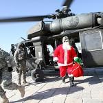 Santa unasses the helo