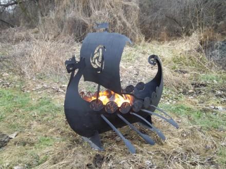 Viking Ship Fire Pit - Copy