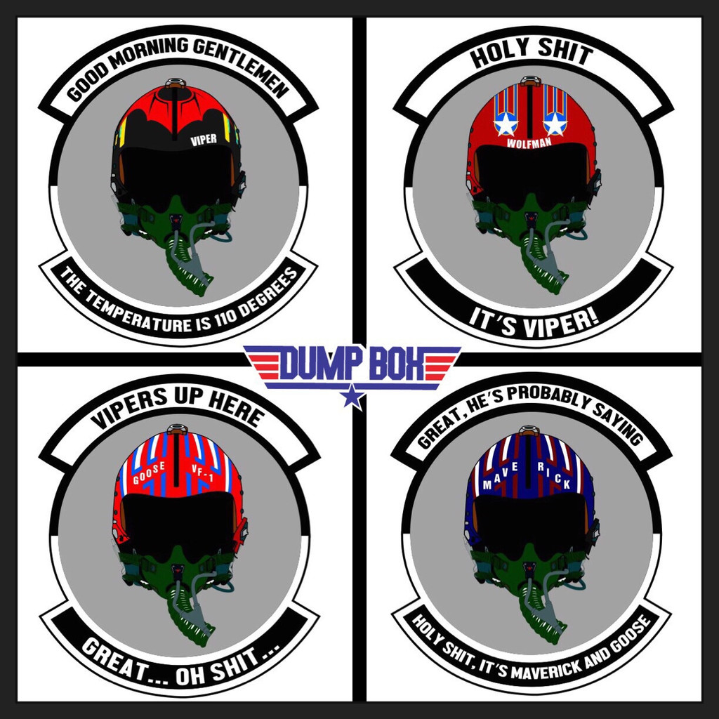 Dumpbox Top Gun Holy S Its Viper Morale Patch And Sticker