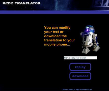 R2D2 Translator