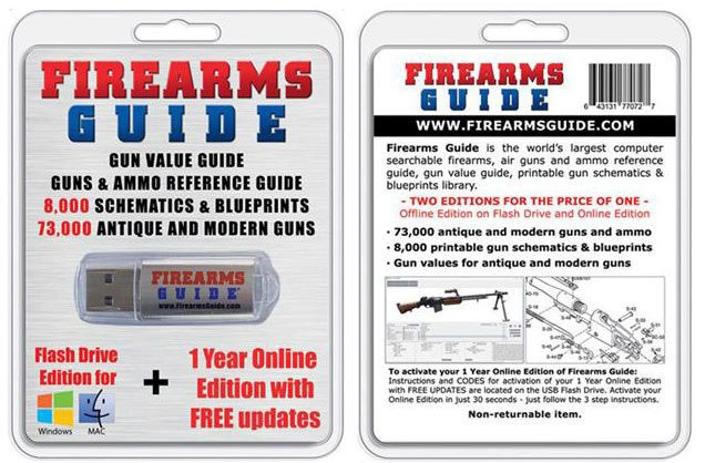 Firearms Guide 9th Edition with 8,000 Schematics & Blueprints Just