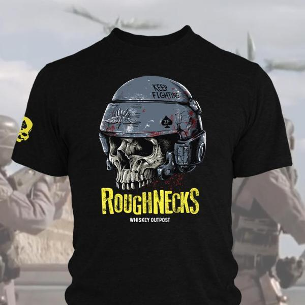 Zero Foxtrot's Rough Necks t-shirt is a clear omage to the 1997 sci-fi film, Starship Troopers, sharing a name (but very little else) with the 1959 Robert ...